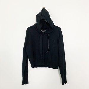 Zara Knit Hooded Sweater Split Front #2786